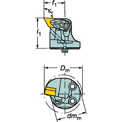 サンドビック:サンドビック コロターンSL コロターンRC用カッティングヘッド 570-DDUNL-32-11 型式:570-DDUNL-32-11