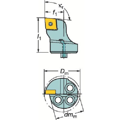 サンドビック:サンドビック コロターンSL コロターン107用カッティングヘッド 570-SCLCR-25-09 型式:570-SCLCR-25-09