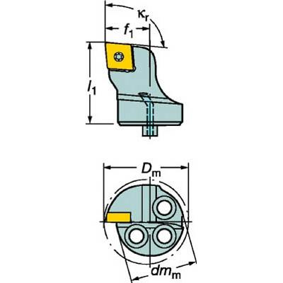サンドビック:サンドビック コロターンSL コロターン107用カッティングヘッド 570-SCLCR-32-09 型式:570-SCLCR-32-09