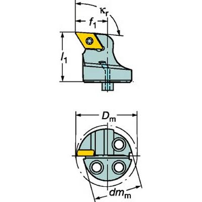 サンドビック:サンドビック コロターンSL コロターン107用カッティングヘッド 570-SDUCR-20-11 型式:570-SDUCR-20-11