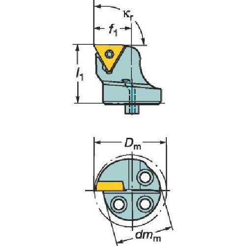サンドビック:サンドビック コロターンSL コロターン107用カッティングヘッド 570-STFCR-20-11-B1 型式:570-STFCR-20-11-B1