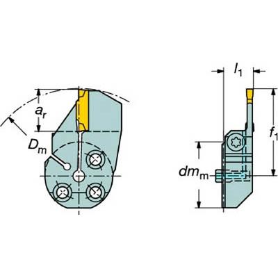 サンドビック:サンドビック コロターンSL コロカット1・2用端面溝入れブレード 570-32R123H18B064B 型式:570-32R123H18B064B