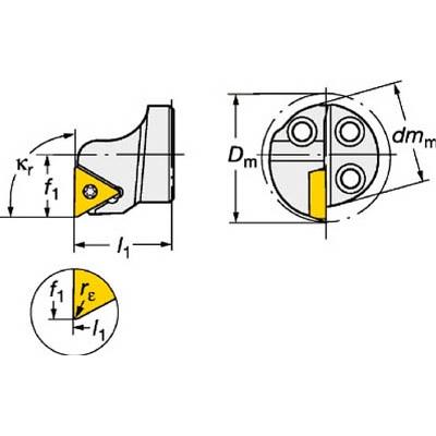 サンドビック:サンドビック コロターンSL コロターン111用カッティングヘッド 570-STFPR-25-11 型式:570-STFPR-25-11