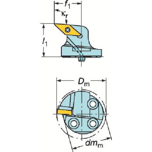 サンドビック:サンドビック コロターンSL コロターン107用カッティングヘッド 570-SVLBR-25-16-LF 型式:570-SVLBR-25-16-LF