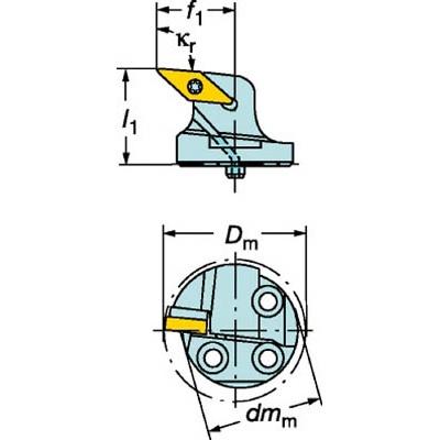 サンドビック:サンドビック コロターンSL コロターン107用カッティングヘッド 570-SVLBR-40-16 型式:570-SVLBR-40-16