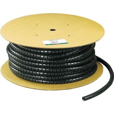 パンドウイットコーポレーション:パンドウイット 電線保護チューブ スリット型スパイラル パンラップ 束線径12.0Φmm 61m巻き 黒 PW50F-T20 PW50F-T20 型式:PW50F-T20