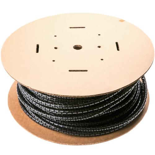 パンドウイットコーポレーション:パンドウイット 電線保護チューブ スリット型スパイラル パンラップ 束線径20.6Φmm 30m巻き 黒 PW100F-C20 PW100F-C20 型式:PW100F-C20