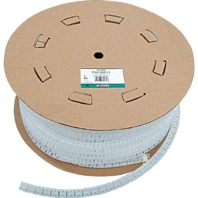 パンドウイットコーポレーション:パンドウイット 電線保護チューブ スリット型スパイラル パンラップ 束線径18.3Φmm 30m巻き 難燃性白 PW75FR-CY PW75FR-CY 型式:PW75FR-CY