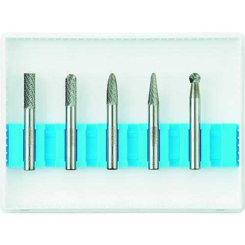 トラスコ中山:TRUSCO 超硬バーセットCシリーズ 軸6mm 刃径6mm 5本セット TB-C060-5S 型式:TB-C060-5S(1セット:5本入)