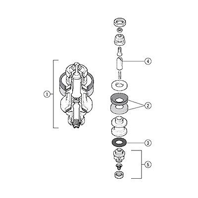 アイエス工業所:FSVボールタップ部品 型式:ピストン一式 50用