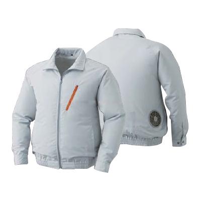 空調服:ポリエステル製空調服(ウェア・ファン2個・ケーブル・バッテリーセット) 型式:BP-500BN シルバーL