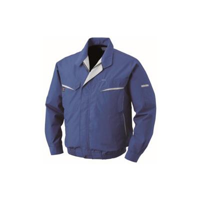 空調服:綿・ポリ混紡ワーク空調服(ウェア・ファン2個・ケーブル・バッテリーセット) 型式:BK-500N ブルーL