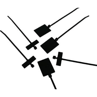 パンドウイットコーポレーション:パンドウイット 旗型タイプナイロン結束バンド 耐候性黒 (1000本入) PLM2M-M0 型式:PLM2M-M0(1セット:1000本入)