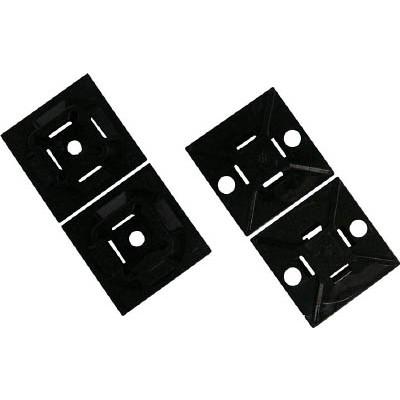 パンドウイットコーポレーション:パンドウイット マウントベース アクリル系粘着テープ付き 耐候性黒(500個入) ABM2S-AT-D0 型式:ABM2S-AT-D0(1セット:500個入)