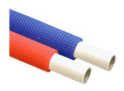 給水給湯用配管器具 樹脂三層管 継手 タブチ:ドライタッチ 長尺管 型式:UPC-HON5-16 青 25m 保温材付 定番スタイル 激安☆超特価