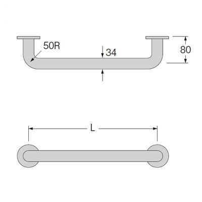 SANEI(旧:三栄水栓製作所):ニギリバー 型式:W91-34×300
