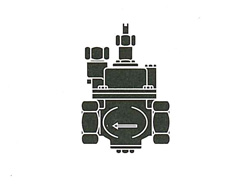 FMバルブ製作所:S-3K型(ストレート) 型式:FM-S-3K-20