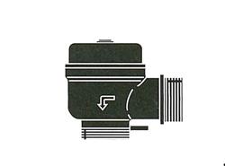 FMバルブ製作所:1型(アングルタイプ)・鉛レス銅合金ねじ込み型 型式:FM-1-40