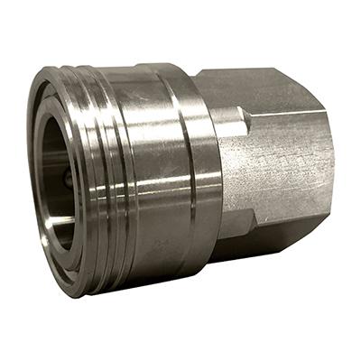 フローバル:中・低圧用両路開放型クイックカップリングSF型(ステンレス製) 型式:TS-8SF(SUS304)