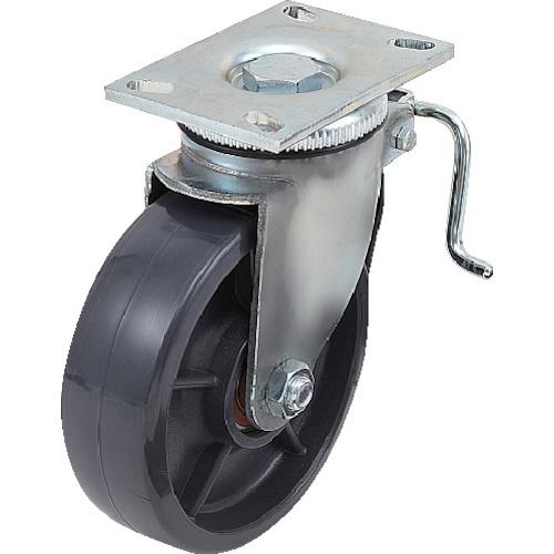 スガツネ工業:スガツネ工業 重量用キャスター径203自在ブレーキ付SE(200ー133ー372 SUG-8-808B-PSE 型式:SUG-8-808B-PSE