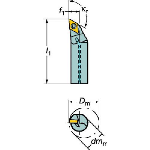 サンドビック:サンドビック コロターン107 ポジチップ用ボーリングバイト A16R-SDXCR 07 型式:A16R-SDXCR 07