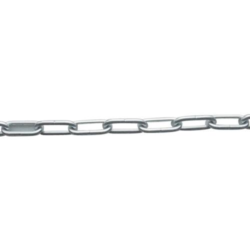 ニッサチェイン:ニッサチェイン アルミ銀リンクチェイン 5.0mmX15M AL50 SILVER 型式:AL50 SILVER