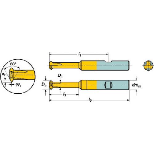 サンドビック:サンドビック コロミル326ソリッドエンドミル 1025 326R08-B3502012-CH 1025 型式:326R08-B3502012-CH 1025