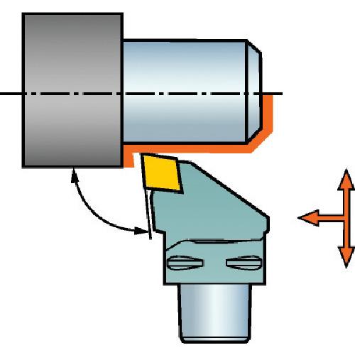 サンドビック:サンドビック コロマントキャプト T-Max P用カッティングヘッド C3-PCLNR-22040-12 型式:C3-PCLNR-22040-12