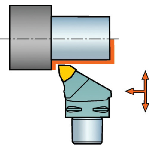 サンドビック:サンドビック コロマントキャプト コロターンRC用カッティングヘッド C4-DWLNL-27050-08 型式:C4-DWLNL-27050-08