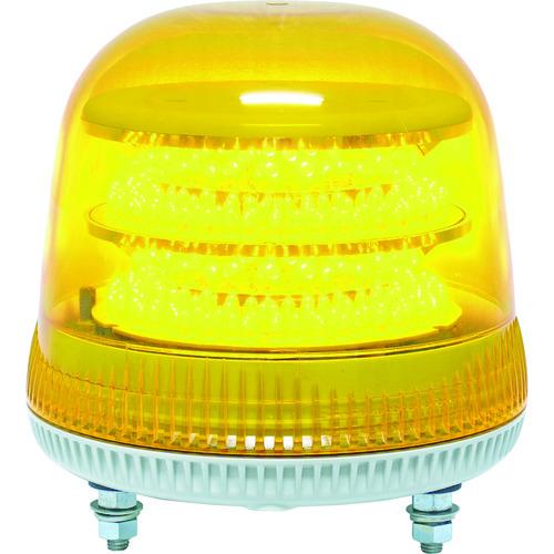 日惠製作所:NIKKEI ニコモア VL17R型 LED回転灯 170パイ 黄 VL17M-100APY 型式:VL17M-100APY