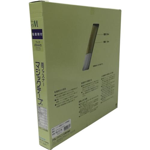 ユタカメイク:ユタカメイク 粘着付マジックテープ切売り箱 A 25mm×25m ホワイト PG-511N 型式:PG-511N