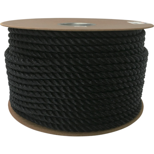 ユタカメイク:ユタカメイク ポリエチレンロープドラム巻 12mm×100m ブラック PRE-64 型式:PRE-64
