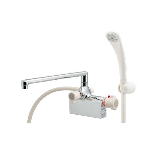 カクダイ:サーモスタットシャワー混合栓(デッキタイプ) 型式:175-008