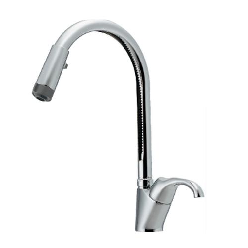 カクダイ:シングルレバー混合栓(シャワーつき) 型式:117-121
