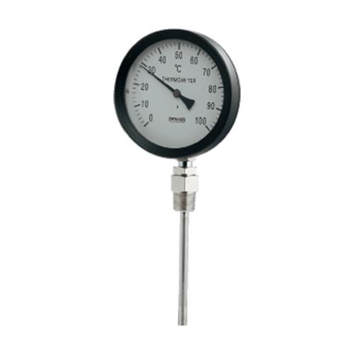 カクダイ:バイメタル製温度計(ストレート型) 型式:649-907-100B