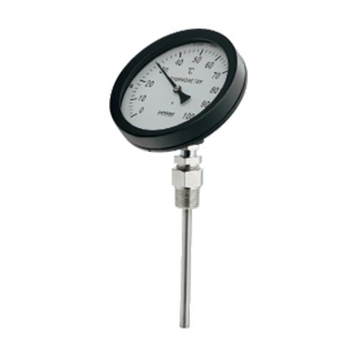 カクダイ:バイメタル製温度計(45度傾斜型) 型式:649-911-50B