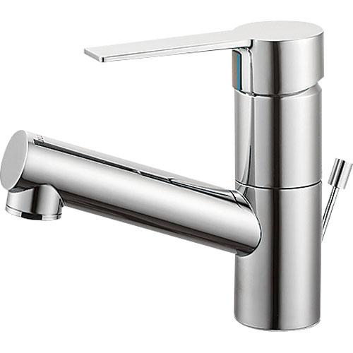 SANEI(旧:三栄水栓製作所):シングルワンホール洗面混合栓 型式:K475PJV-1-13