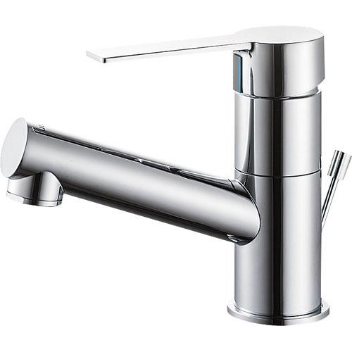 SANEI(旧:三栄水栓製作所):シングルワンホール洗面混合栓 型式:K475PJVZ-1-13