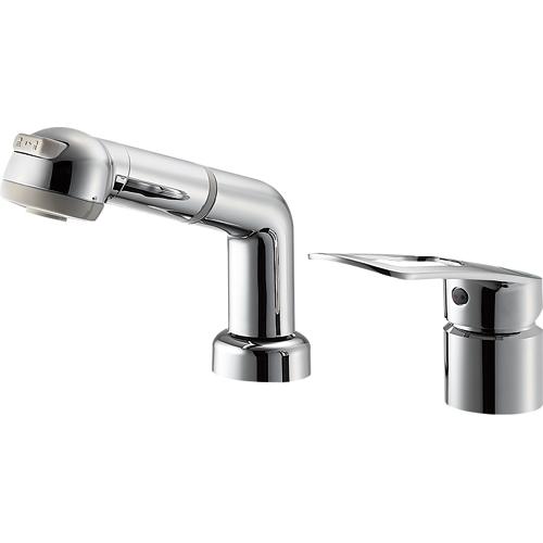 SANEI(旧:三栄水栓製作所):シングルスプレー混合栓(洗髪用) 型式:K3761EJK-C-13