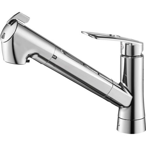 SANEI(旧:三栄水栓製作所):シングル浄水器付ワンホールスプレー混合栓 型式:K87128ETJK-13