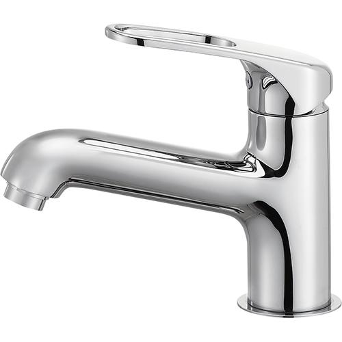 SANEI(旧:三栄水栓製作所):シングルワンホール洗面混合栓(省施工ナット付) 型式:K4710NJK-U-13