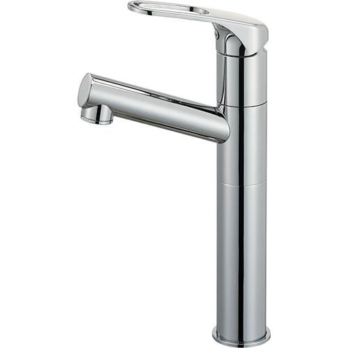 SANEI(旧:三栄水栓製作所):シングルワンホール洗面混合栓(省施工ナット付) 型式:K475NJKZ-2TU-13