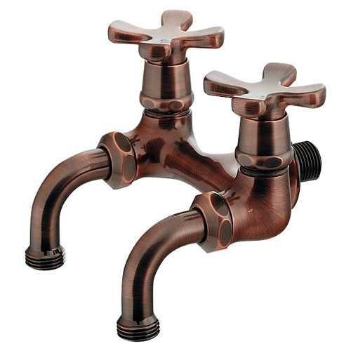 カクダイ:ガーデン用双口ホーム水栓 型式:705-104-13