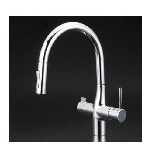 2019年春の KVK:浄水器付シングルレバー式シャワー付混合栓 型式:KM6081SCEC:配管部品 店-DIY・工具