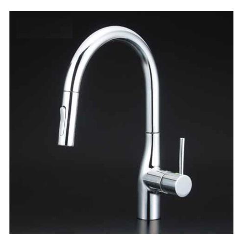KVK:流し台用シングルレバー式シャワー付混合栓 型式:KM6061ZEC
