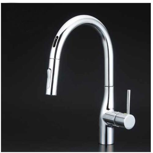 KVK:流し台用シングルレバー式シャワー付混合栓(センサー付) 型式:KM6071EC