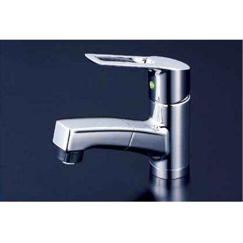 【あす楽対応】 KVK:洗面用シングルレバー式シャワー付混合栓 型式:KM8001TFEC:配管部品 店-DIY・工具