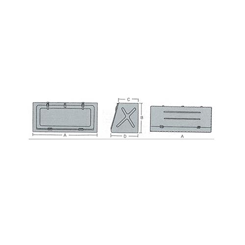 国内調達品:トラック用工具箱 型式:4005-500A