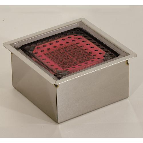 日動工業:全面発光ソーラーLEDタイル100角 型式:NFT0404R-SUS
