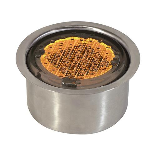 日動工業:全面発光ソーラーLEDタイル100丸 型式:NFT100Y-SUS